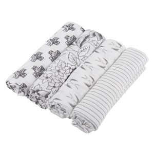 Monochrome Swaddle Pack 4-Pack