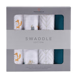 Forest Friends Cotton Muslin Swaddle 4PK