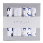 In the Wild Cotton Muslin Swaddle 4PK
