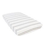 Grey Stripe Crib Sheet