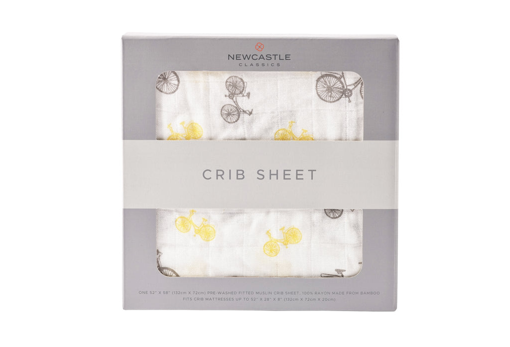 Vintage Bicycle Crib Sheet -