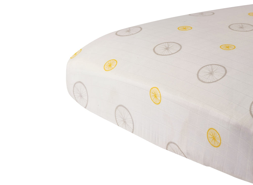 Vintage Wheel Crib Sheet