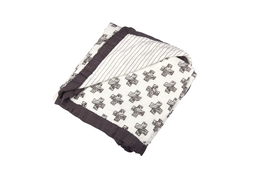 Nordiac Cross and Pencil Stripe Newcastle Blanket  -
