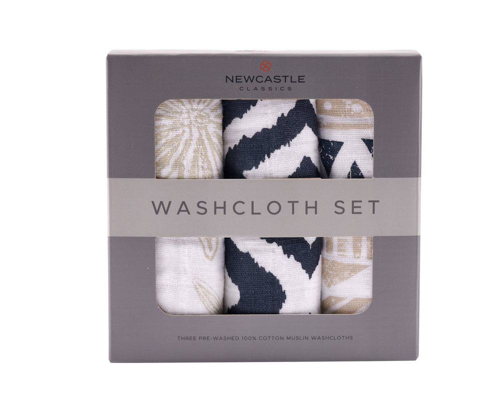 World Wanderer Cotton Washcloth Set 3PK