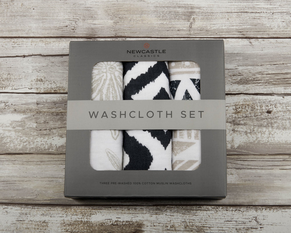 World Wanderer Washcloth Set of 3