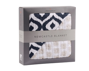 Moroccan Blue And Traveler Dot Newcastle Blanket