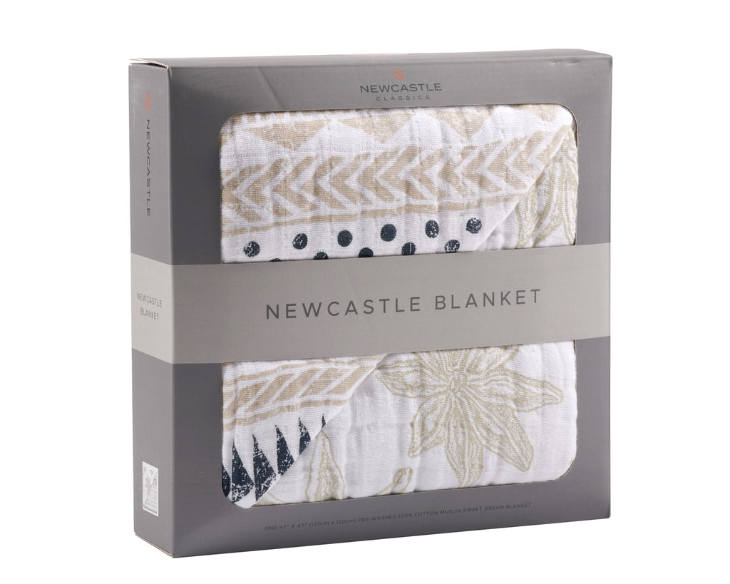 Pyramid Print and Star Anise Newcastle Blanket -