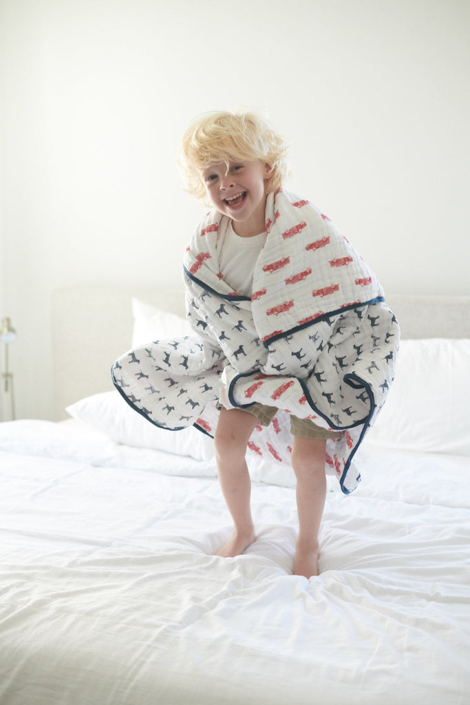 Fire Truck & Dalmatian Newcastle Blanket -