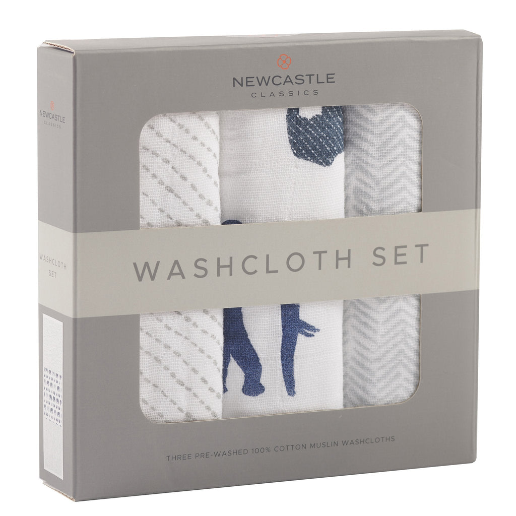 In The Wild Elephant Washcloth Set by Newcastle Classics -