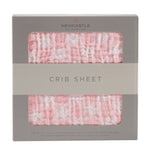 Primrose Pink Plaid Crib Sheet