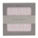 Matchstick Hearts Crib Sheet