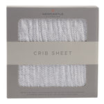 Herringbone Crib Sheet
