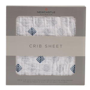 Glacier Branch Crib Sheet