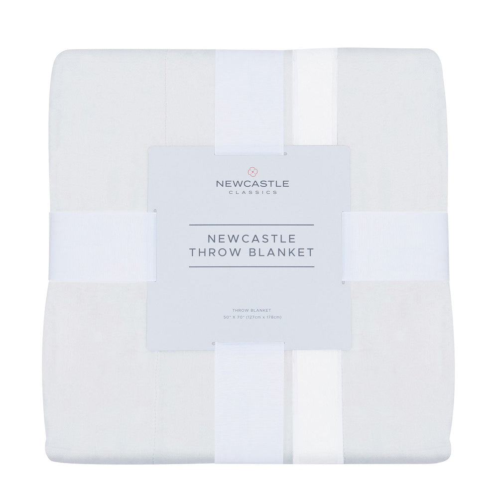 Pure White Bamboo Muslin Throw Blanket