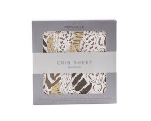 Animal Print Crib Sheet
