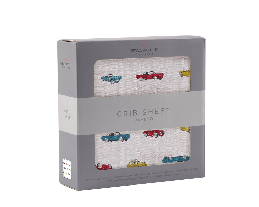 Vintage Muscle Cars Crib Sheet
