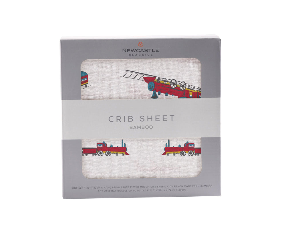 Vintage Steam Crib Sheet