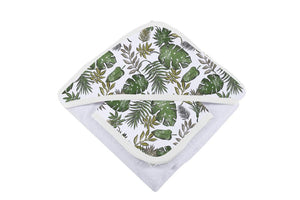 Jurassic Forest Hooded Towel and Washcloth Set