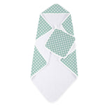 Jade Polka Dot Hooded Towel and Washcloth Set