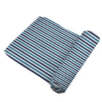 Blue and White Stripe Swaddle