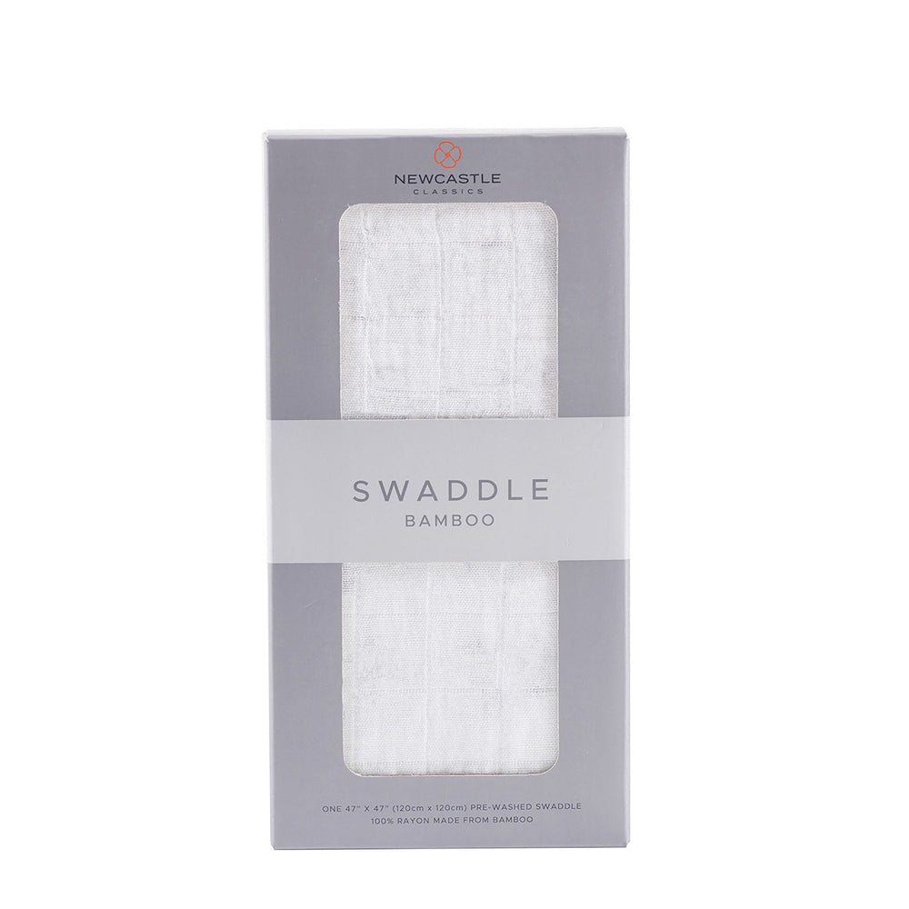 Pure White Cotton Swaddle