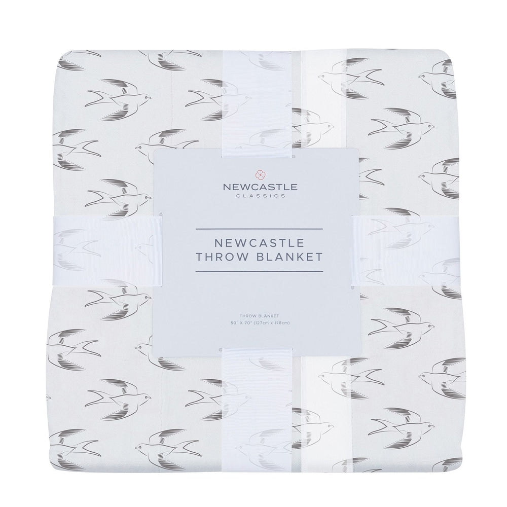 Sparrows Bamboo Muslin Throw Blanket