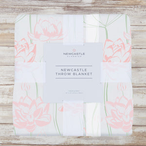 Water Lily Newcastle Throw Blanket