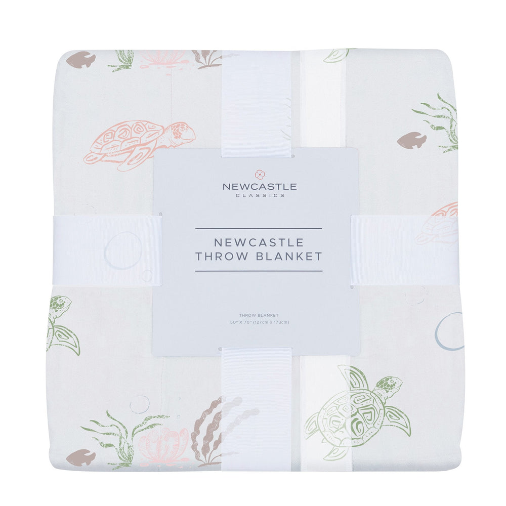 Turtles Bamboo Muslin Throw Blanket