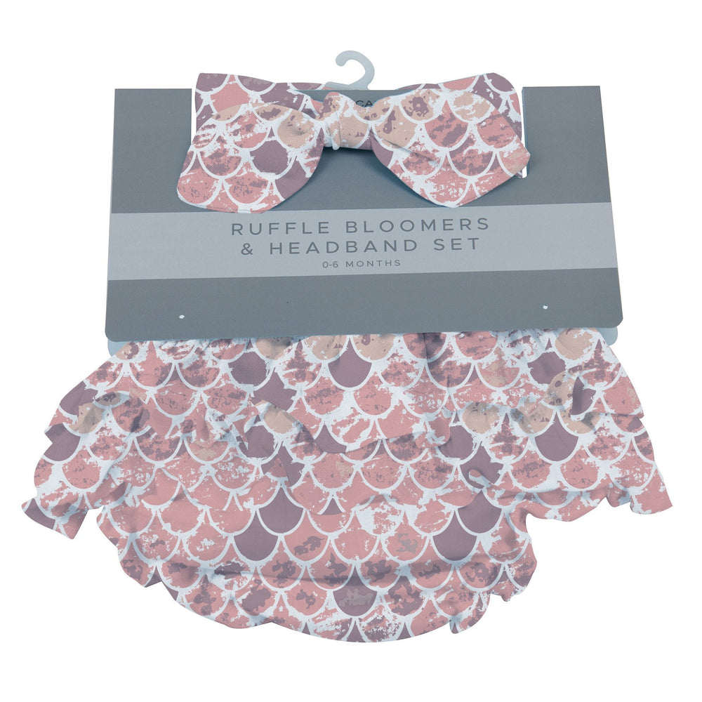 Scales Ruffle Bamboo Bloomer Headband Set