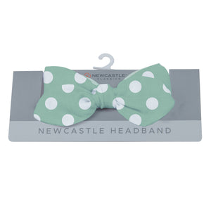 Jade Polka Dot Newcastle Headband
