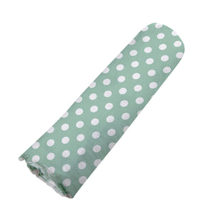 Jade Polka Dot Swaddle