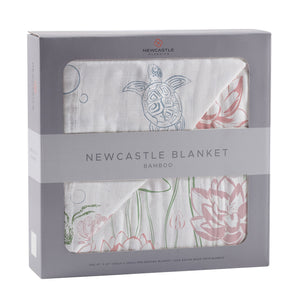Turtles and Water Lily Newcastle Blanket