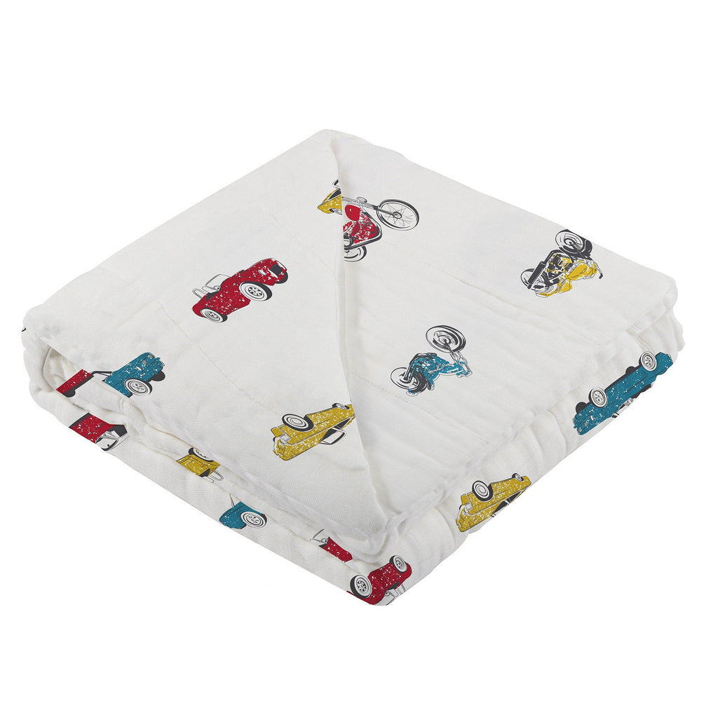 Vintage Muscle Cars and Motorcycles Newcastle Blanket