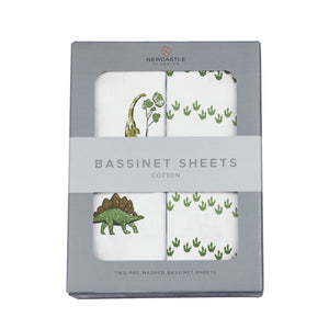 Dino Days and Dino Feet Bassinet Sheets