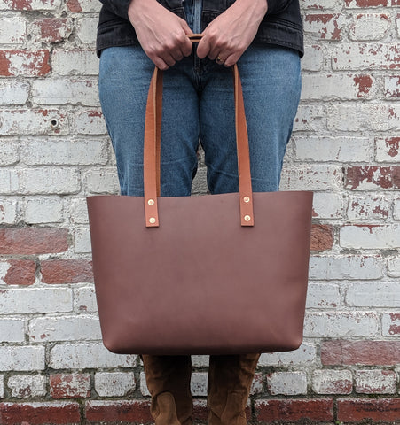 Amelia Medium Leather Tote - Louisville Hide & Co.