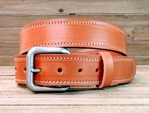 Zebulon Stitched Belt - Louisville Hide & Co.