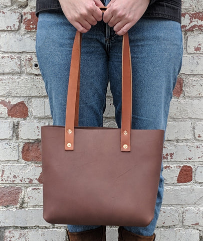 Amelia Small Leather Tote - Louisville Hide & Co.