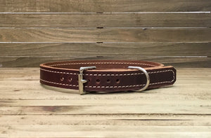 Explorer Walnut Leather Dog Collar