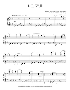 It Is Well-Sheet Music for Solo Piano