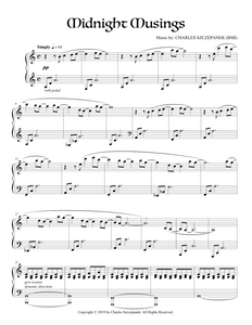 Midnight Musings - Sheet Music for Solo Piano