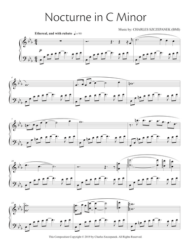 Nocturne in C Minor - Sheet Music for Solo Piano