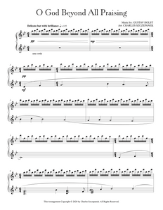 O God Beyond All Praising - Sheet Music for Solo Piano
