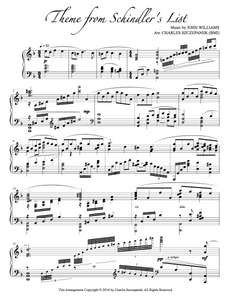 Theme from Schindler's List-Sheet Music for Solo Piano