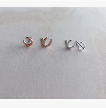 Horse Shoe Earrings Studs Jewellery Amery Equestrian rose gold