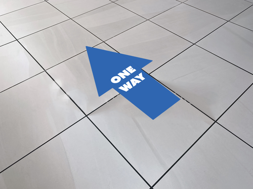 One Way Arrow - Floor Graphics