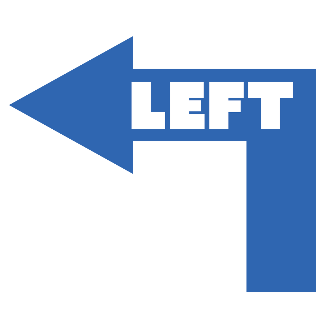 Hard Left Arrow - Floor Graphics