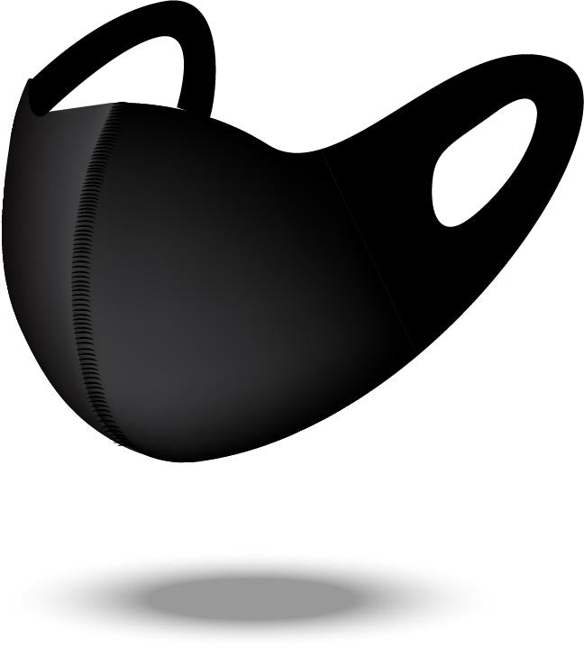 Black Reusable Soft Style Mask