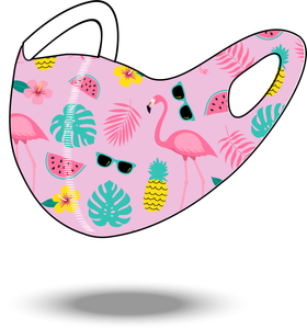 Flamingo Reusable Soft Style Mask