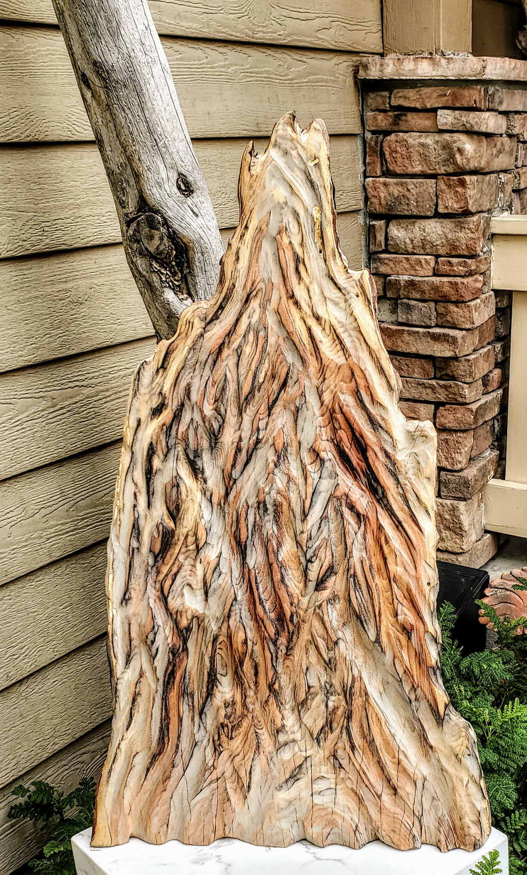 Carvers Mountain wooden sculpture
