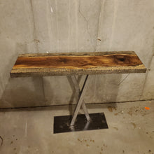 Walnut Cross Entryway Table